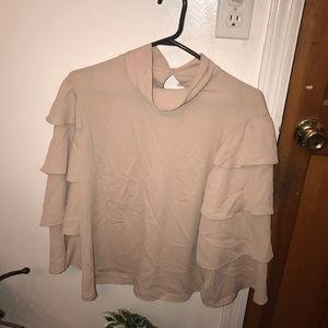 Tops - Brand new beige tiered sleeve top
